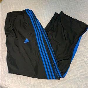 Adidas windpants sweats XL blue black